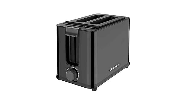 Cooking & Chef - Cooking & Chef - Tostador Doble Rebanada TT-5B - 950 W - Color Negro: Amazon.es: Hogar