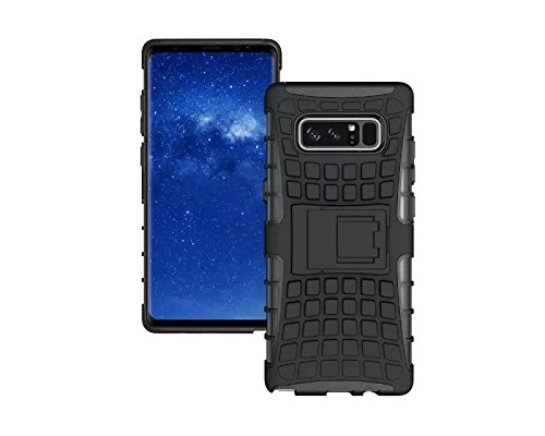 Galaxy Note 8 Case,Berry Accessory Heavy Duty Rugged [Drop Protection][Shock Proof][Dual Lawyer] Hybrid Defender Armor with Built-in Kickstand Case Cover For Samsung Galaxy Note 8 2017