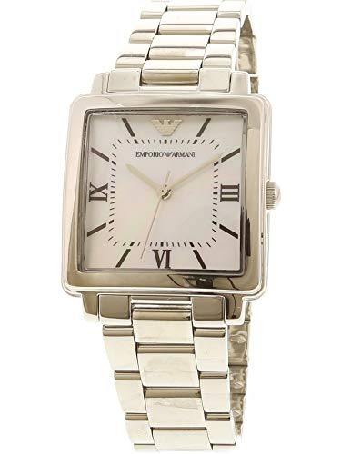 Emporio Armani Women's 'Dress Quartz Stainless Steel Casual Watch, Color:Silver-Toned (Model: AR11065)
