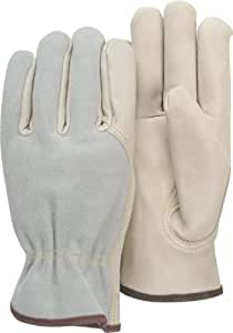 Majestic Glove 1532B B Grade Grain Cowhide Leather Combination Driver Glove with Split Back, Work, 2X-Large (Pack of 12 Pairs)
