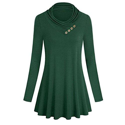 Pulls Manteau Élégant Manches Longues Shirt Rond Col T Beikoard T Femme Tops Shirt Sweat Vert Tops Femme Femmes Tunique Blouse Chemise à Chic Femme Shirt RqwHfZxaz
