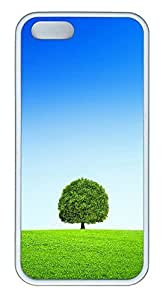 iPhone 5 5S Case A Tree Blue Sky And White Clouds TPU Custom iPhone 5 5S Case Cover White