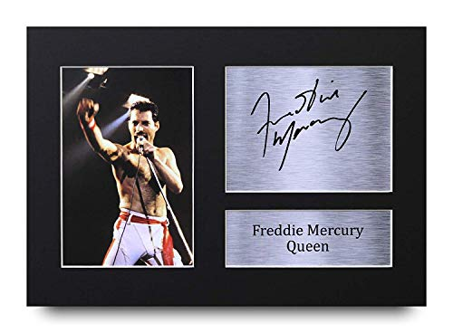 HWC Trading Freddie Mercury Signed A4 Printed Autograph Queen Music Print Photo Picture Display