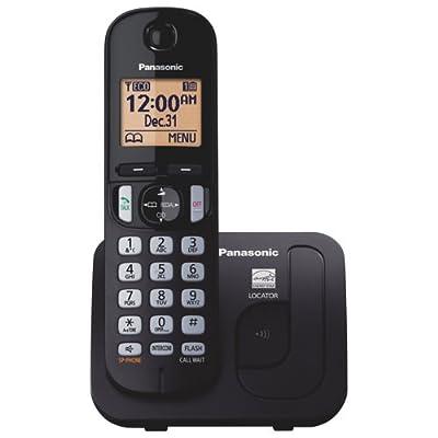Panasonic KXTGC210B / KX-WP110B DECT 6.0 1-Handset 1-Line Landline Telephone (Certified Refurbished) (KX-TGC210S BLACK)