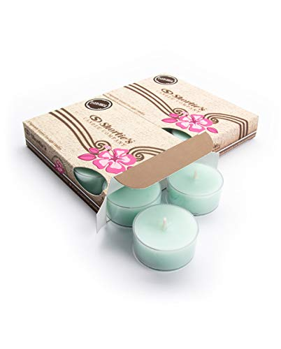 (Iced Mint Lavender Tealight Candles Multi Pack (12 Mint Highly Scented Tea Lights) - Made with Essential & Natural Oils - Clear Cup for Beautiful Candlelight - Fresh & Clean Collection)
