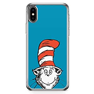 Loud Universe Dr Seuss Face Cute iPhone XS Case Hat Red iPhone XS Cover with Transparent Edges