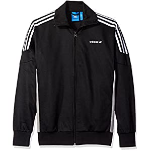 adidas Originals Men's Outerwear Challenger Track Jacket, Black, Large