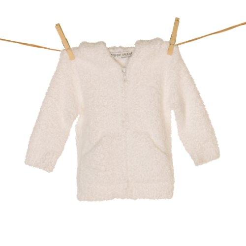 Barefoot Dreams Chic Toddler Hoodie - White-4T-5T