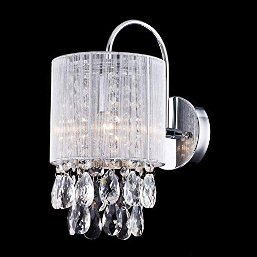 CLAXY Ecopower Lighting Modern Metal Crystal Wall Sconce-1 Light