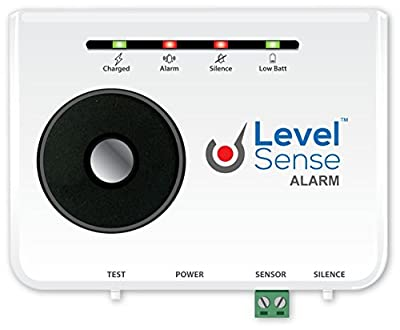 Level Sense Sump Pump Failure Alarm with Rechargeable Battery Back-Up, 20 Foot Float