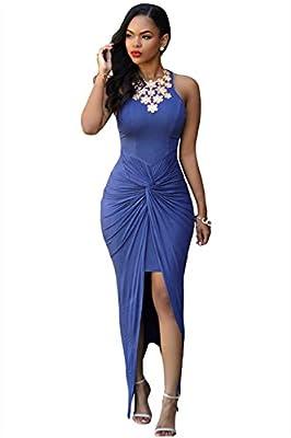 YeeATZ Women's Knotted Slit Dress