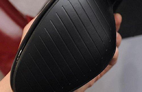 donne 35 red 35 stivali a pelle polpaccio metà aumentato scarpe Martin scrub Di retrò ragazze tacco o dUwd6a