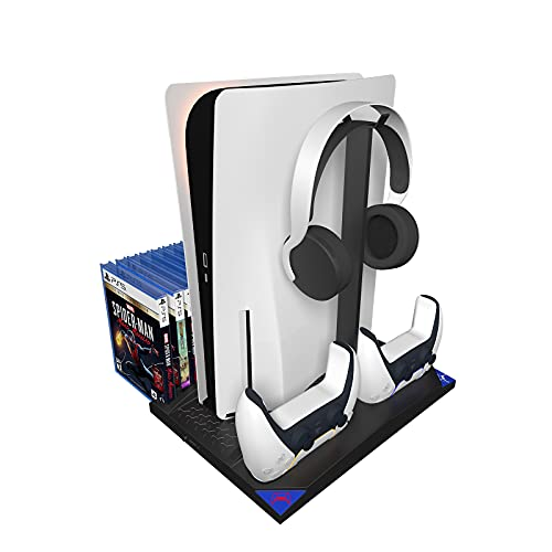 TOSHIHAMA PS5 Playstation 5 Console Disc Edition Accessories Playstation 5 Controllers and PS5Charging Stand with Cooling Fan for PS5 Playstation 5 Console Disc Digital Edition