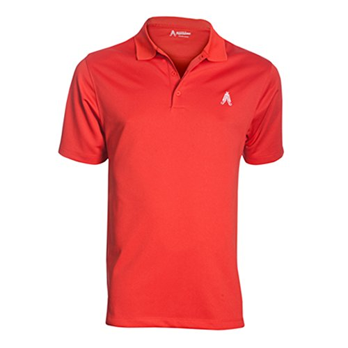 Royal & Awesome Men's Golf Polo, Red 42 Inch Chest - Medium