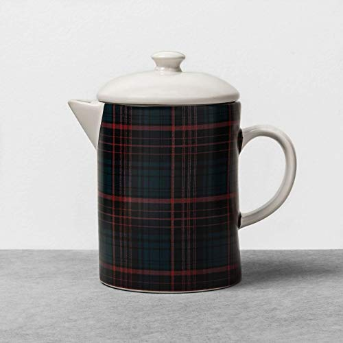 Tea/Coffee Pot Beverage Server Plaid - Red/Blue - Hearth & Hand with Magnolia