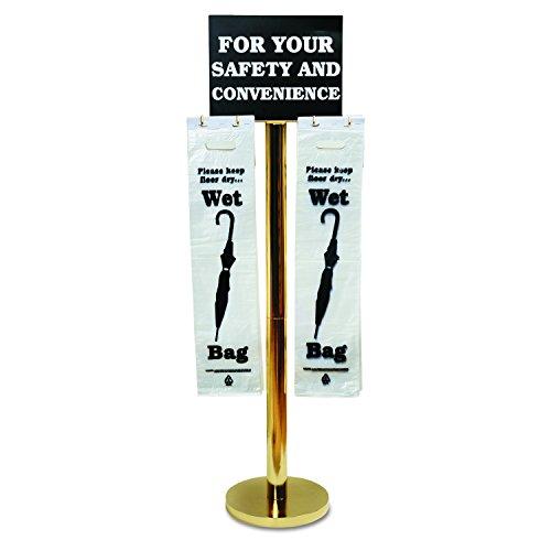- Tatco Wet Umbrella Bag Stand, 16w x 12d x 54-1/2h, Brass-Plated Metal