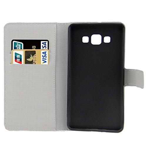 Funda Iphone, Colorful Daisy patrón de flores horizontal Flip caja de cuero con el titular y ranuras de tarjeta para Samsung Galaxy A7 / A700F ( SKU : S-SCS-3771K ) S-SCS-3771C