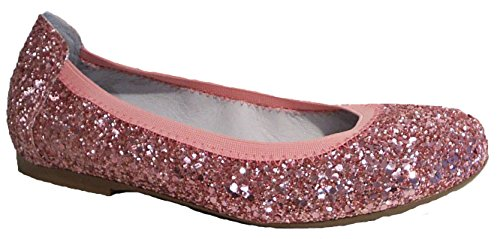 Glitzer Flats Leder Rosa Ballerinas Acebo's P1vwFq66