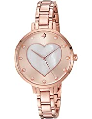 kate spade new york Womens Metro Quartz Stainless Steel Casual Watch, Color:Rose Gold-Toned (Model: KSW1216)