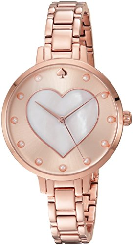 Gold Pearl Watch (kate spade new york Women's 'Metro' Quartz Stainless Steel Casual Watch, Color:Rose Gold-Toned (Model: KSW1216))