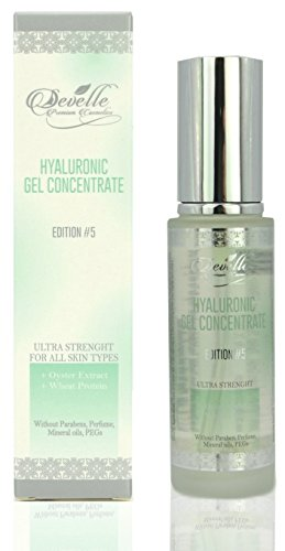 Hyaluronic Gel Edition 5 with Oyster Extract and Wheat Protein MADE IN GERMANY I Hyaluronic Acid Gel I Hyaluronic Booster I Anti-Wrinkle Face Care I Anti-Aging without Paraben I Anti-Aging Gel