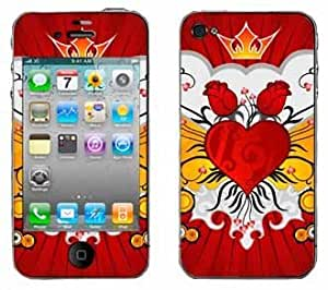 Flaming Heart Skin for Apple iPhone 4 4G 4th Generation