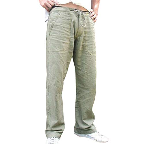 - iHHAPY Men Splicing Sport Shorts Printed Overalls Casual Work Casual Trouser Pants Large Size with Pockets Green