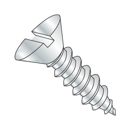 "#14 x 1 1/2"" Type A Self-Tapping Screws/Slotted/Flat Head/Steel/Zinc (Carton: 2,000 pcs)"