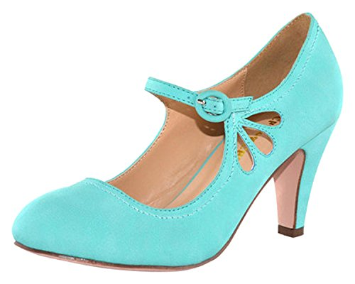 T Pump Mint and Teardrop Mary Chloe Chase 21 Cutout Jane Kimmy Strap Heel Zv8Wpq