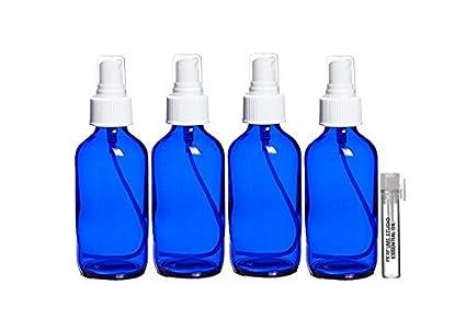 016b23201dfe Perfume Studio 4 oz Smalt Cobalt Blue Glass Spray Bottle/Perfume Studio  Essential Oil Vial. (Set of 4 Cobalt Sprayer Bottles/Essential Oil Sample).  ...