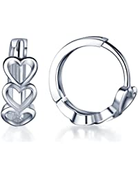 Huggie Earrings 925 Sterling Silver Small Hoop for Women/Girls