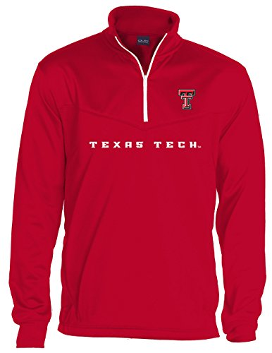 - Old Varsity Brand NCAA Texas Tech Red Raiders Men's Big Qtr Zip Fleece Sweatshirts, 3X-Large, Red