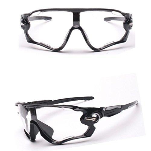 Hometom UV400 Lens Riding Sunglasses Outdoor Sports Mountain Bike Glasses (Clear)