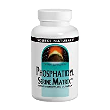 PhosphatidylSerine Matrix 500mg Source Naturals, Inc. 60 Softgel