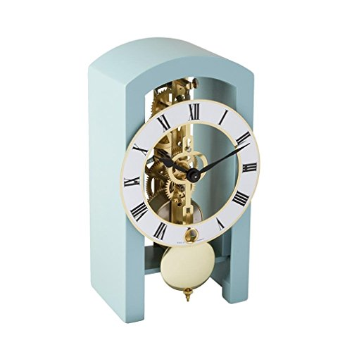 (Hermle 23015S40721 Patterson Contemporary Table Clock - Light Blue )