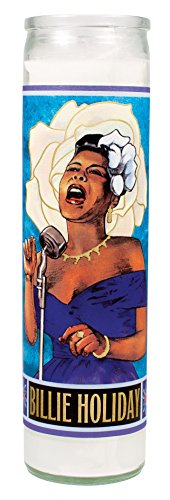 Billie Holiday Secular Saint Candle - 8.5 Inch Glass Prayer Votive -  The Unemployed Philosophers Guild, 4736