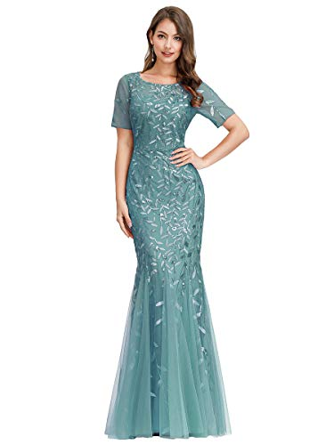 Women's Sweetheart Neckline Prom Formal Gown Mermaid Dress Blue US16 (Mermaid Wedding Dresses With A Sweetheart Neckline)