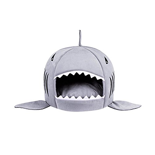 Spring Fever Shark Pet Dog Cat Bed Round Removable Cushion W