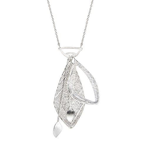(Silpada 'Contemporary Charm' Textured Multi-Charm Pendant Necklace in Sterling Silver)
