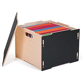 hanging file box. Black Modern Wood Hanging File Boxes, American Made Box
