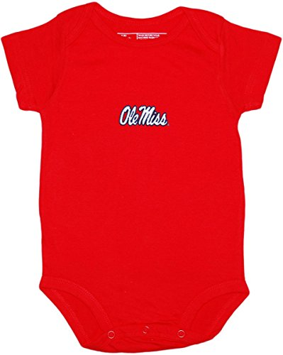 - Ole Miss Newborn Baby Clothes, Rebel Gear, Boy and Girl College Bodysuit