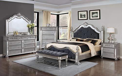 (GTU Furniture Kenton Panel Wooden 5Pc Queen Bedroom Set(Q/D/M/N/C))