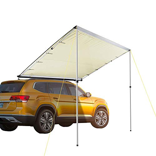Yescom 7 6'x8 2' Car Side Awning Rooftop Pull Out Tent Shelter PU2000mm  UV50+ Shade SUV Outdoor Camping Travel Beige