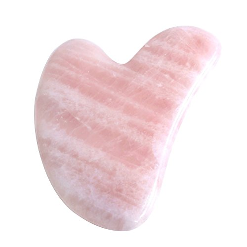 CCbeauty Gua Sha Scraping Massage Tools Natural Rose Quartz 100% Handmade Guasha Board for SPA Acupuncture