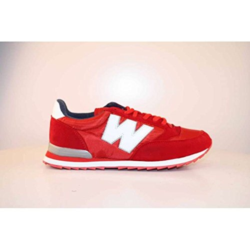 WILLIAM MARTIN Rebelation, Zapatillas de Deporte Unisex Adulto Varios colores (Rojo)