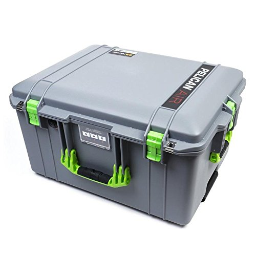 Pelican Silver & Lime Green 1607 case. Comes Empty with Wheels.