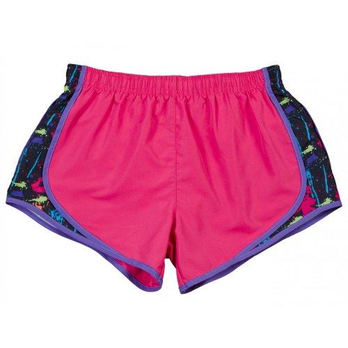 Boxercraft- Pantalones cortos transpirables para mujer Rosa/ Gris-Blanco