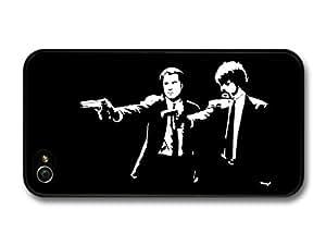 Pulp Fiction Movie John Travolta Samuel Jackson Black and White Illustration For Ipod Touch 5 Case Cover