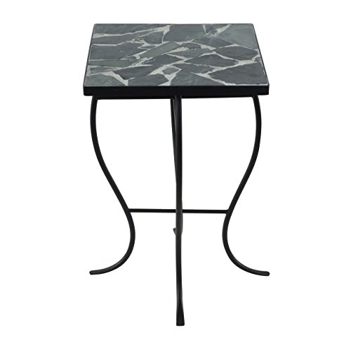 Briarwood Home Decor Mosaic Stone Tile and Metal Square-top Table (Sofa Briarwood)