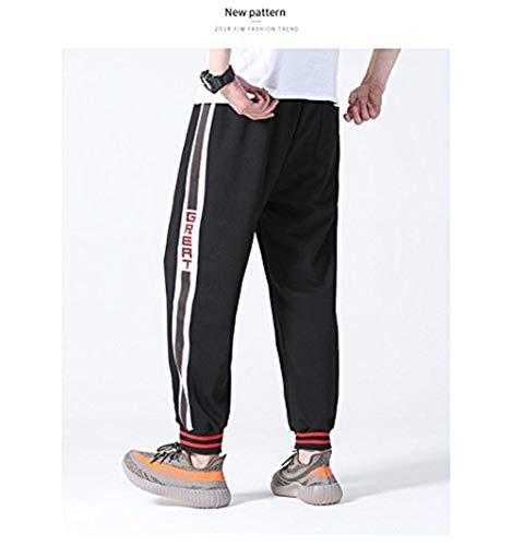 Collège Style Hommes Garçons Streetwear Pantalon Harlan 2018 La Pour Été Casual Tendance Noir De Mode YqnT1pw
